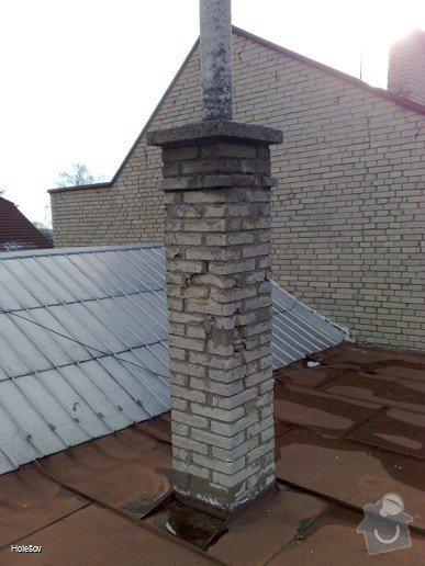 Oprava plechové střechy a kominu: 050220112323