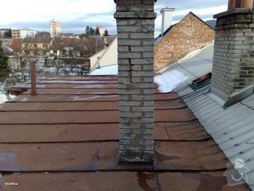 Oprava plechové střechy a kominu: 050220112324