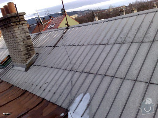 Oprava plechové střechy a kominu: 050220112325