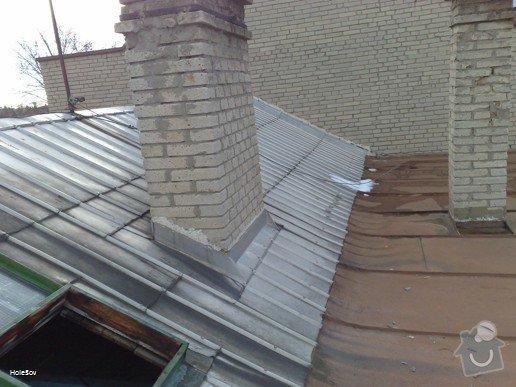 Oprava plechové střechy a kominu: 050220112326