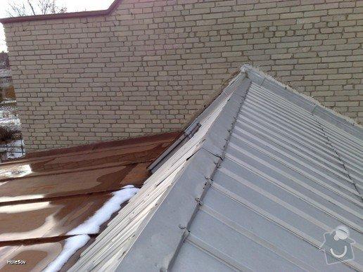 Oprava plechové střechy a kominu: 050220112328