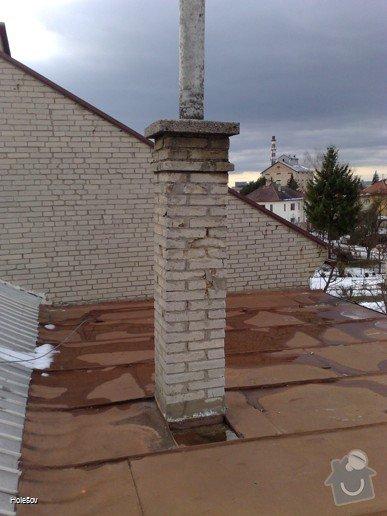 Oprava plechové střechy a kominu: 050220112329