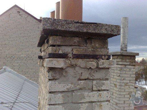 Oprava plechové střechy a kominu: 050220112330