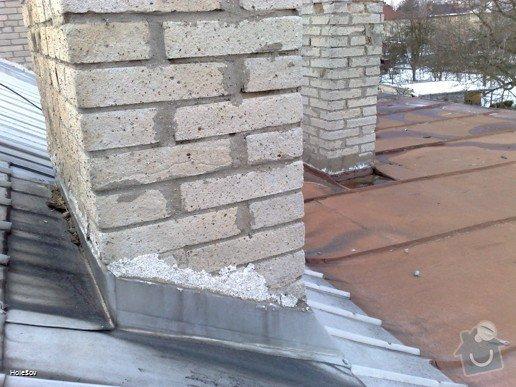 Oprava plechové střechy a kominu: 050220112331