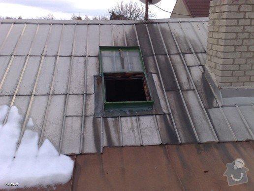 Oprava plechové střechy a kominu: 050220112333