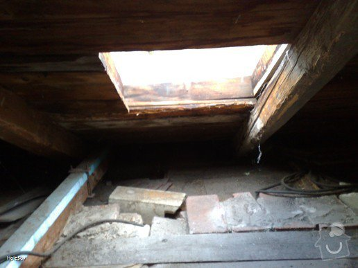 Oprava plechové střechy a kominu: 050220112334