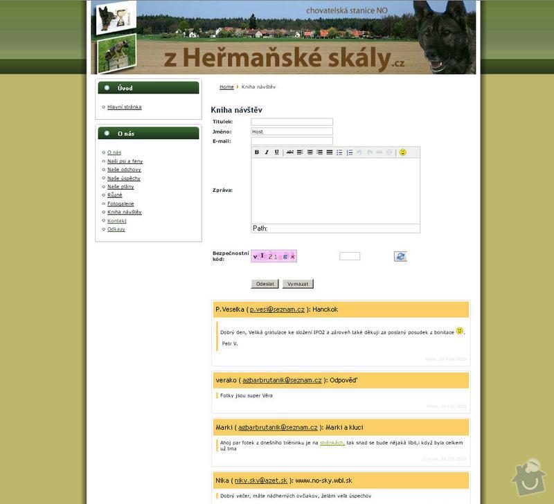 Vytvoření internetových stránek pro CHS Z heřmaňské skály: 4