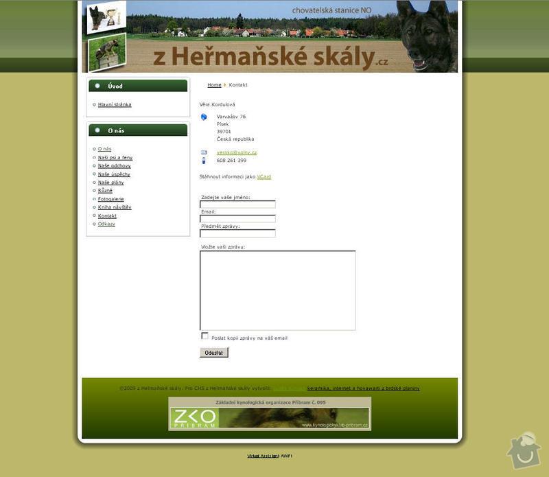 Vytvoření internetových stránek pro CHS Z heřmaňské skály: 5