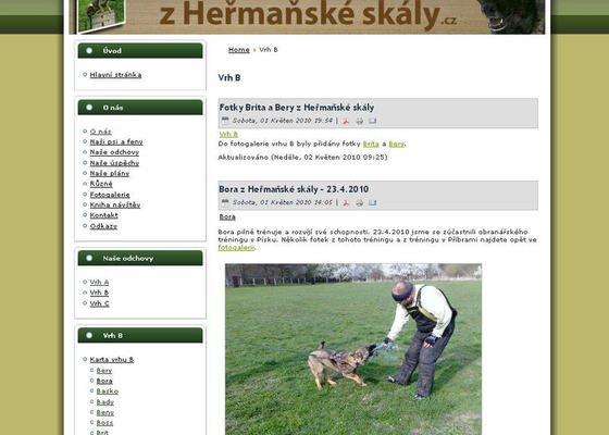 Vytvoření internetových stránek pro CHS Z heřmaňské skály