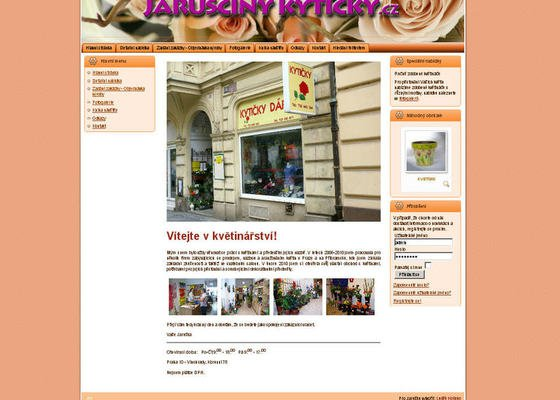Vytvoření internetových stránek pro květinářství