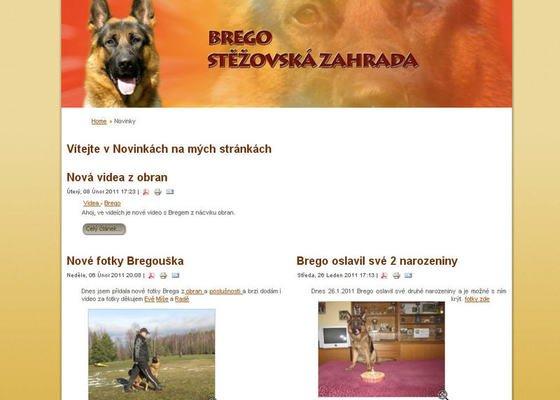 Vytvoření internetových stránek pro majitelku chovného psa