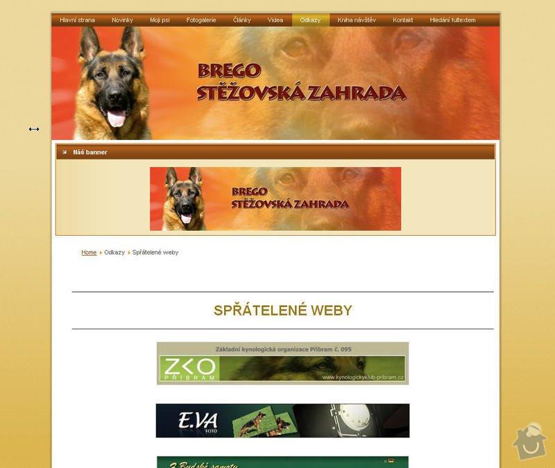 Vytvoření internetových stránek pro majitelku chovného psa: 7