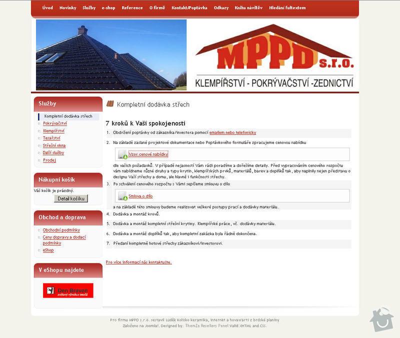 Vytvoření internetových stránek pro firmu MPPD s.r.o.: 3