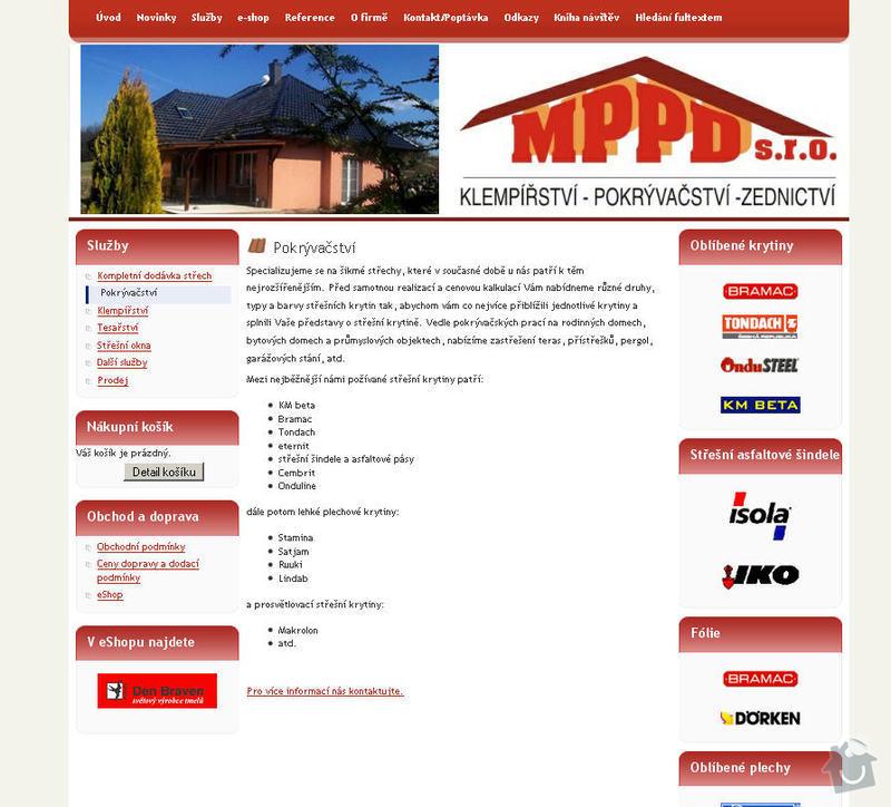 Vytvoření internetových stránek pro firmu MPPD s.r.o.: 4