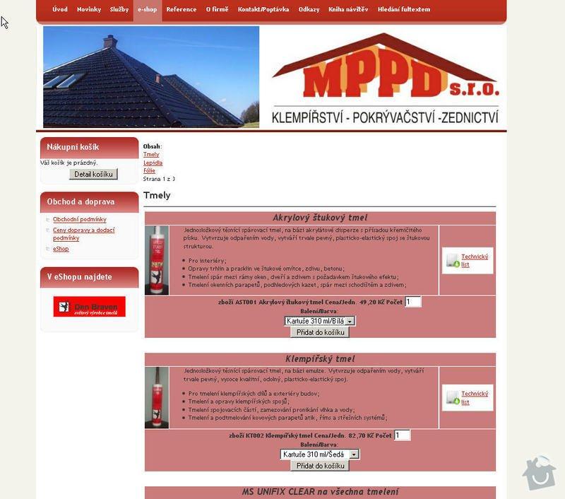 Vytvoření internetových stránek pro firmu MPPD s.r.o.: 5
