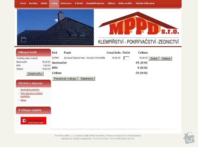 Vytvoření internetových stránek pro firmu MPPD s.r.o.: 6