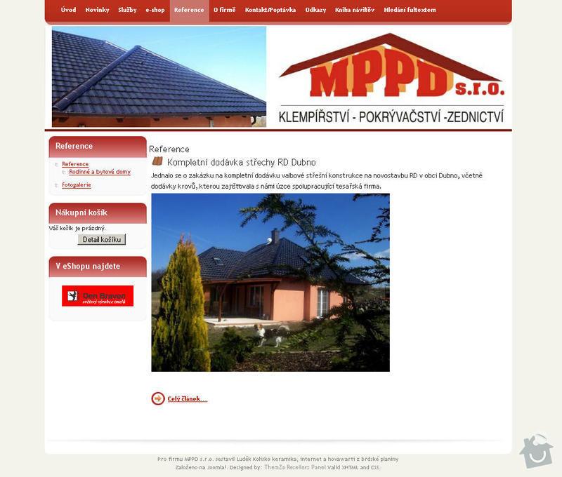 Vytvoření internetových stránek pro firmu MPPD s.r.o.: 7