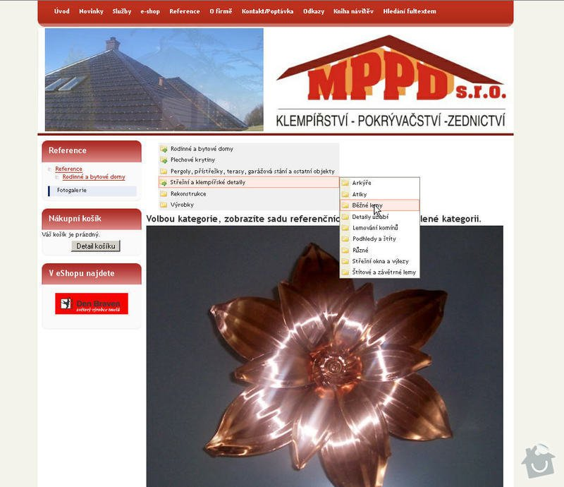 Vytvoření internetových stránek pro firmu MPPD s.r.o.: 8