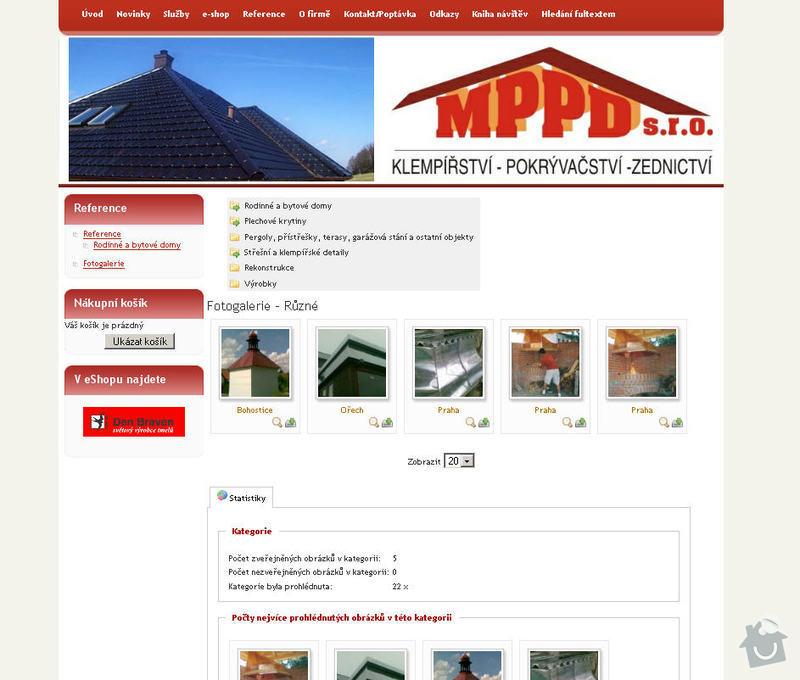Vytvoření internetových stránek pro firmu MPPD s.r.o.: 9