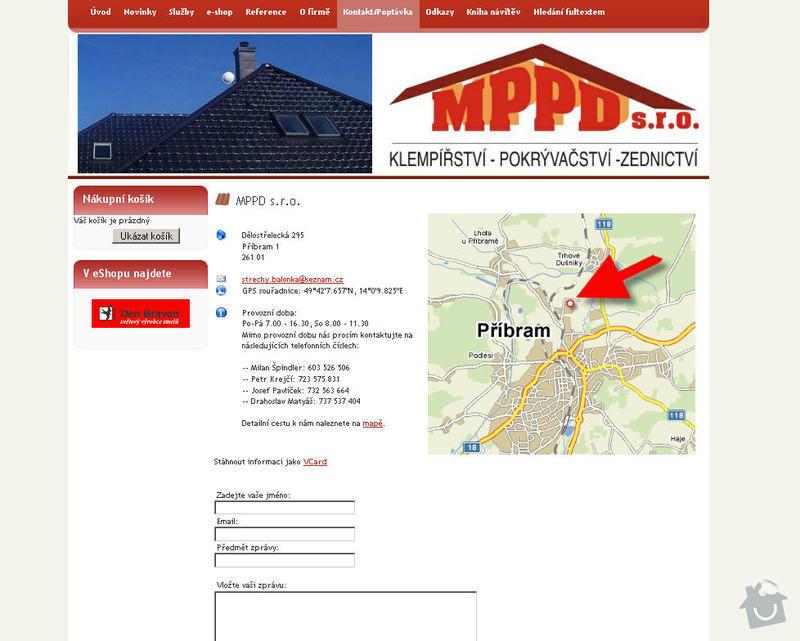 Vytvoření internetových stránek pro firmu MPPD s.r.o.: 11