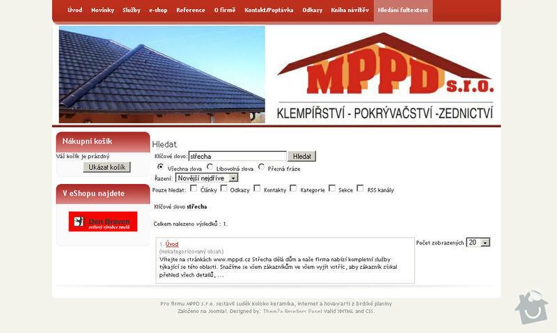 Vytvoření internetových stránek pro firmu MPPD s.r.o.: 12