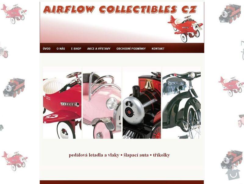 Tvorba 4 www stránek  : airflow