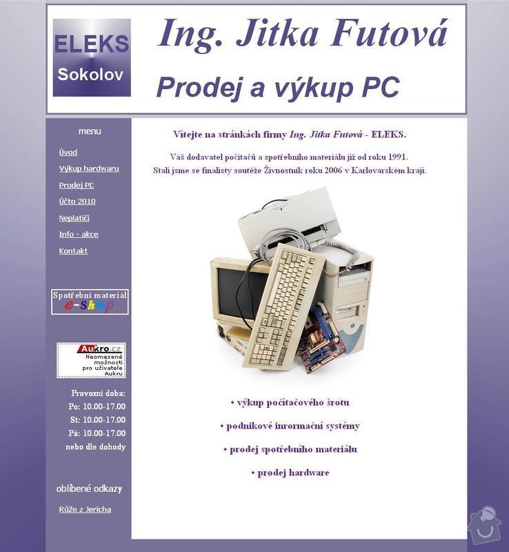 Tvorba 4 www stránek  : eleks