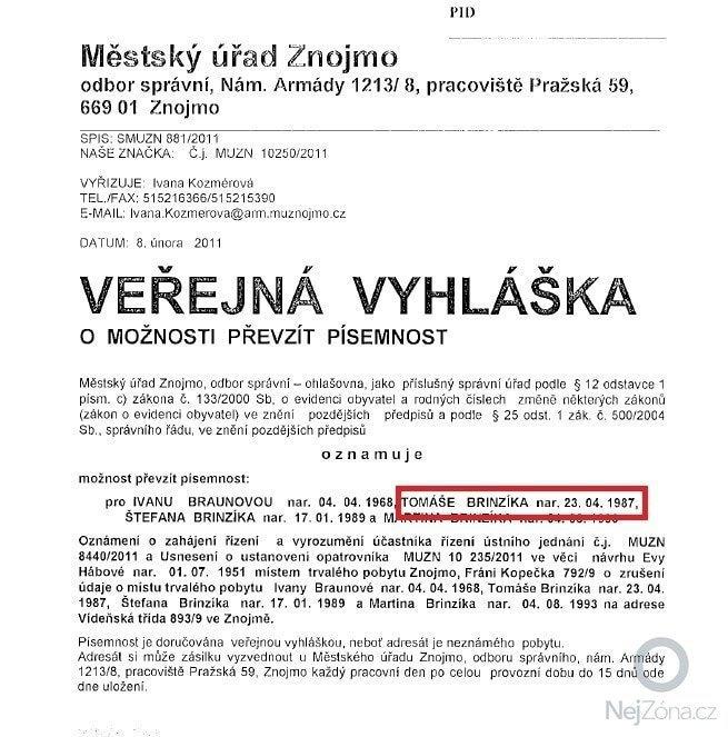 Doplnění k realizaci základové desky paní Haničákové: verejna_vyhlaska