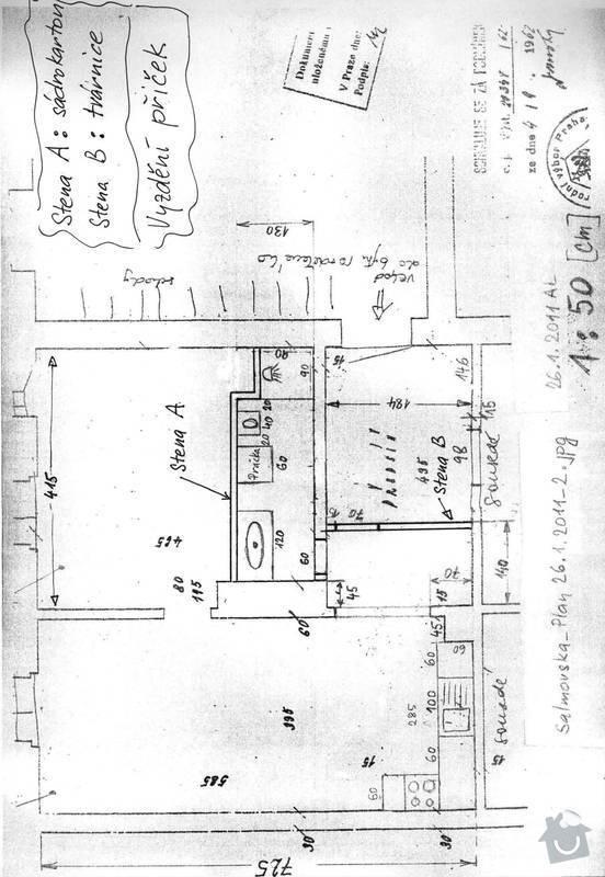 Instalaterske prace,voda,odpad, etazove plynove topeni, 2pokoje, 44m2: vyzdeni-dvou-pricek-bourani-starych_Salmovska_pricky_4_2_2011