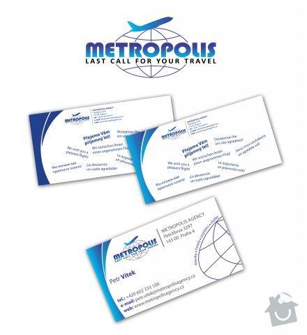 Tvorba internetové prezentace www.metropolisagency.cz: metropolis_vizitky_logo