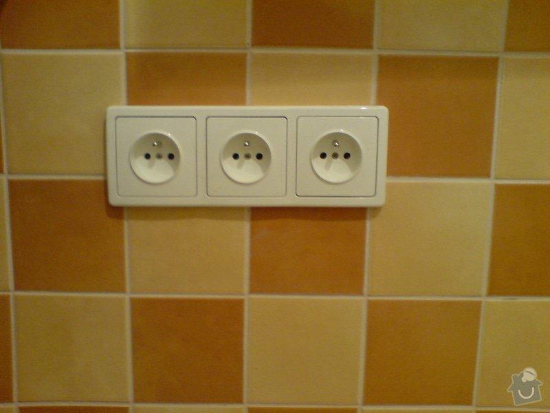 Kompletní rekonstrukce elektroinstalace: zasuvky_kuchyn