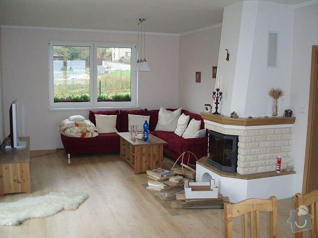 Kompletní interiér - podlahy, obklady, dlažby, instalatérské práce, krb: PA040118