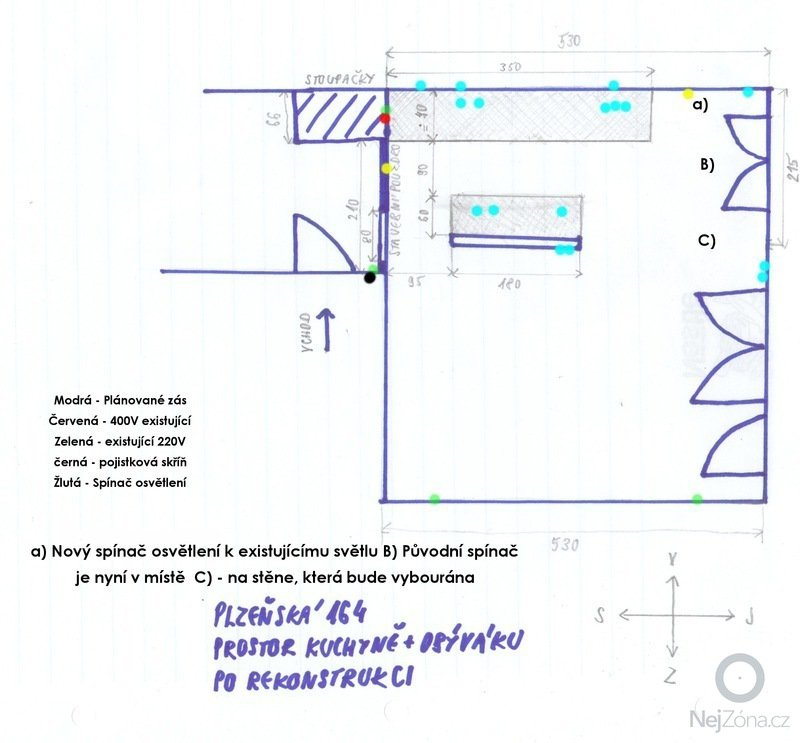 Stavební a elektrikářské úpravy panel. bytu: 04_Elektro_-_Planek_po_realizaci
