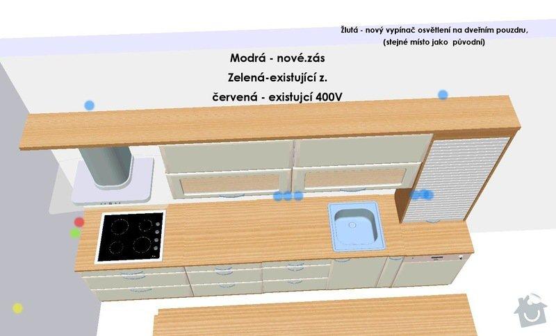 Stavební a elektrikářské úpravy panel. bytu: 05_Zasuvky_-_Kuchyn1