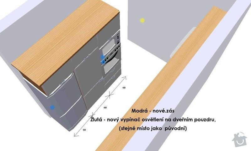 Stavební a elektrikářské úpravy panel. bytu: 06_zasuvky_-_kuchyn2