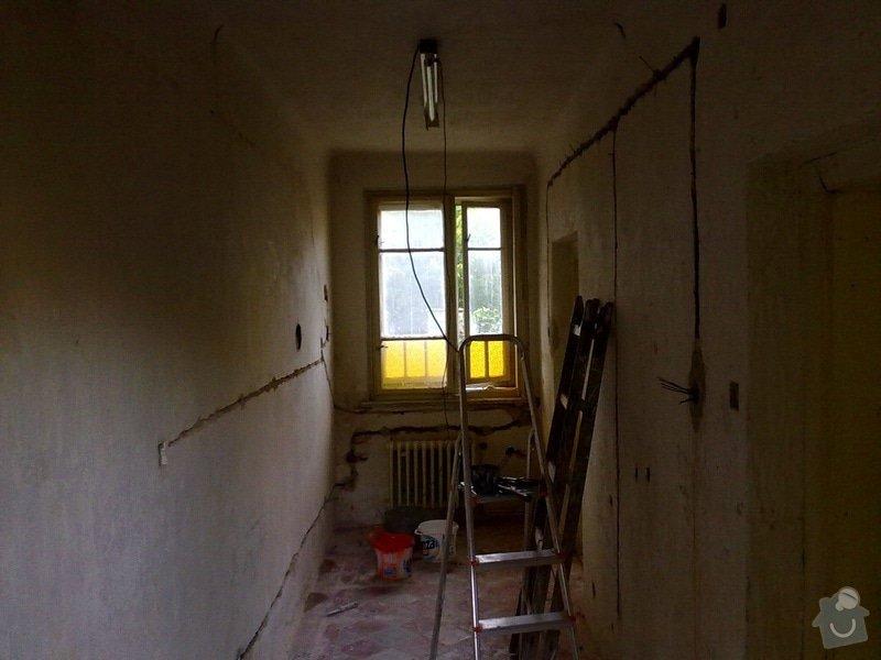 Elektroinstalace, montáž oken: 02