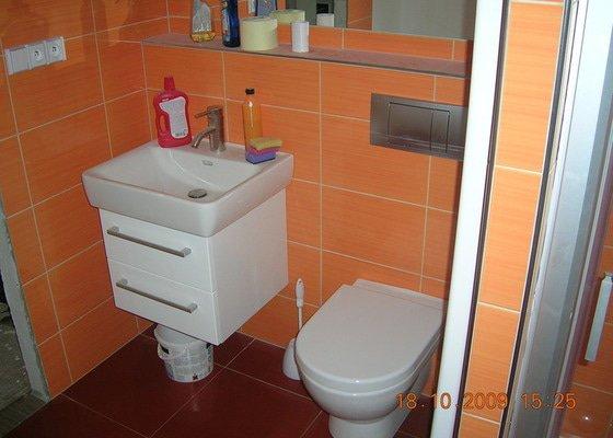 Rekonstrukce koupelny + WC, kuchyně