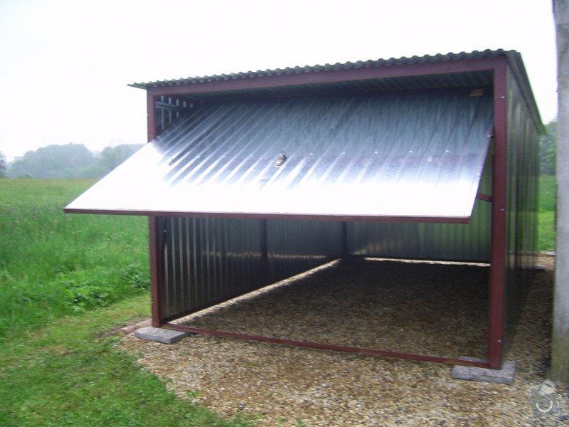 Plechová montovaná garáž: SSA40242