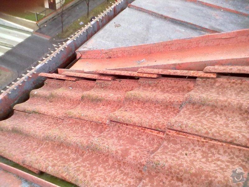 Oprava střechy, žlabů a okapů. : P1