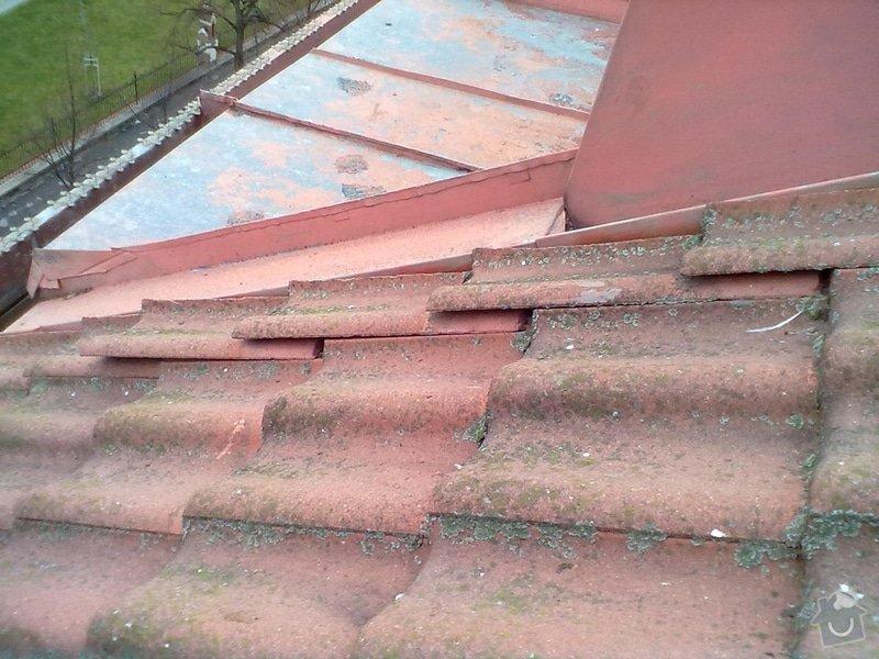 Oprava střechy, žlabů a okapů. : P4