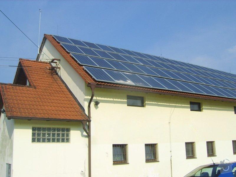 Řešení svodu srážkové vody ze střechy do studně- provoz prádelny: SV204009