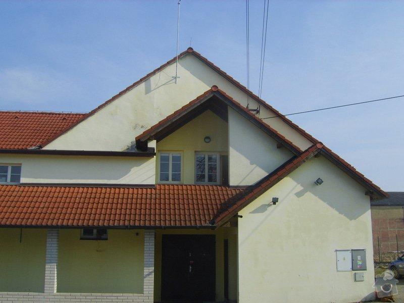 Řešení svodu srážkové vody ze střechy do studně- provoz prádelny: SV204015