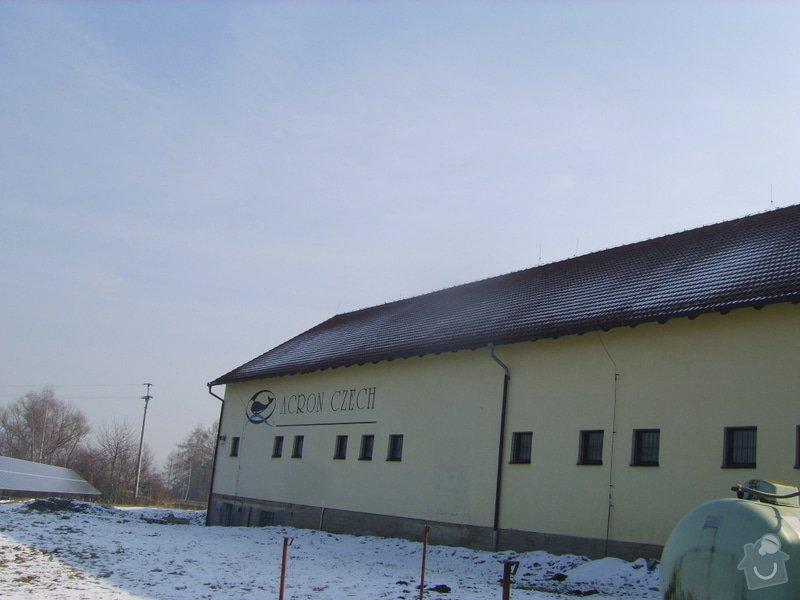 Řešení svodu srážkové vody ze střechy do studně- provoz prádelny: SV204025