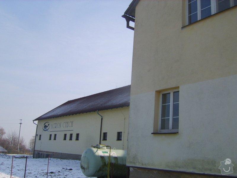 Řešení svodu srážkové vody ze střechy do studně- provoz prádelny: SV204022