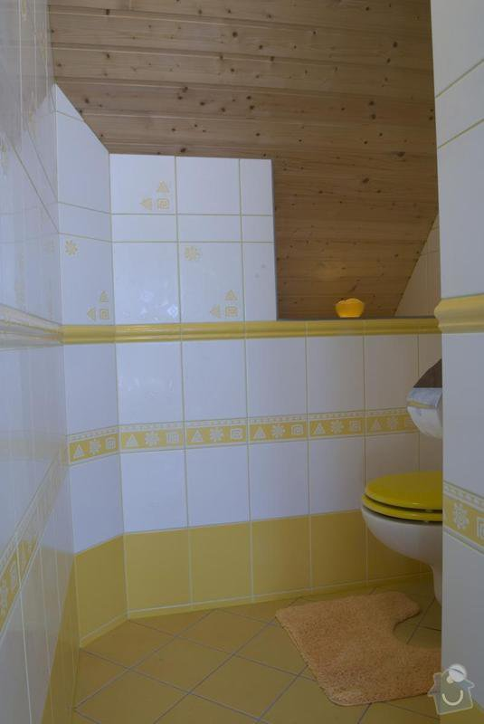 Rekonstrukce celé koupelny: toaleta