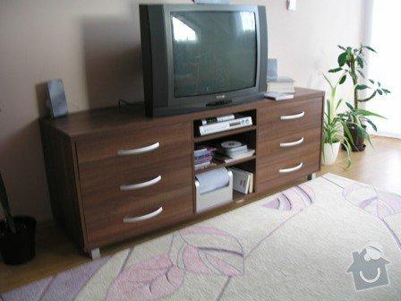 Položení plovoucí podlahy,obklad schodnic zaměření,výroba vestavné skříně a komody: Komoda_inz