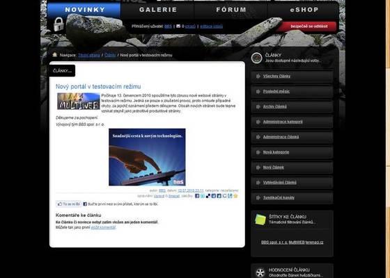 Webové stránky pro příznivce off-roadů