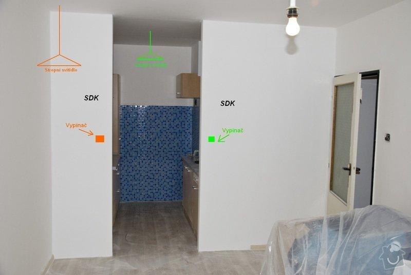 Elektro zapojení kuchyně, výměna zásuvek v bytě: 1