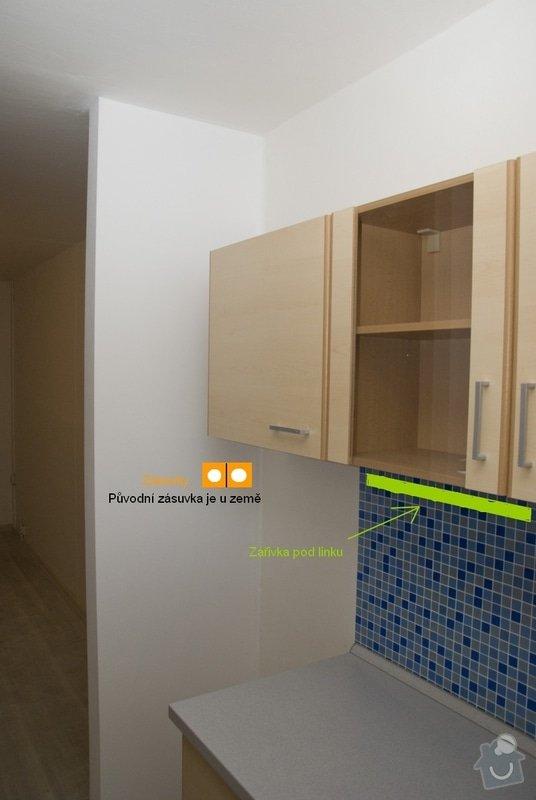 Elektro zapojení kuchyně, výměna zásuvek v bytě: 3