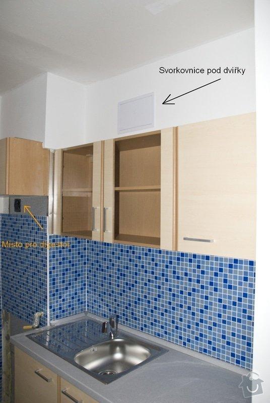 Elektro zapojení kuchyně, výměna zásuvek v bytě: 4